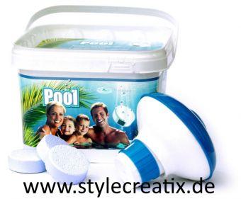 AquaFinesse® Pool - 30 Reinigungstabletten inklusive Skimmer