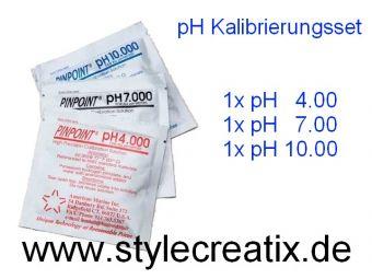 pH Kalibrierflüssigkeit Pufferlösung Eichlösung  pH 4 + pH 7 + pH 10