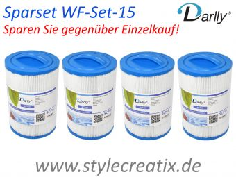 4x WF-15DY Darlly® Whirlpool Filter 60401 (ersetzt Pleatco PWW50-P3, SC714, Magnum WY45, Waterway, ...)