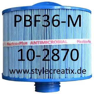 WFM-35P Whirlpool Filter PLEATCO PBF36-M (ersetzt Bullfrog 10-2870, V&B Filter, Wellspring 10-2870)
