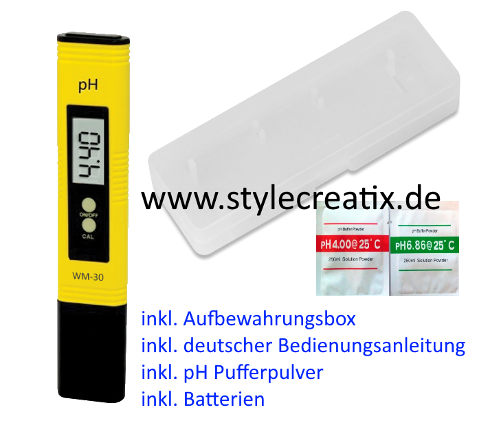 whirlpool digitales ph messger t ph meter wm 30 g nstig. Black Bedroom Furniture Sets. Home Design Ideas